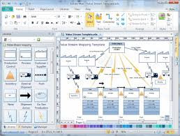 Chart Mapping Software Value Stream Mapping Software Create A Value Stream Map
