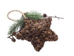 Anhänger Weihnachten Stern Zapfen Christbaumschmuck Weihnachtsdeko Natur