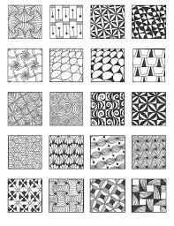 Zentangle Pattern Ideas Mesmerizing Clips Zentangle Pattern Ideas EduClipper