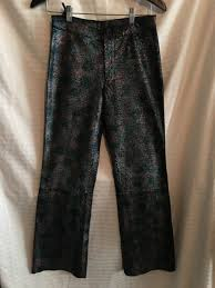 wilsons leather sz 6 maxima snake metallic iridescent pants black pink teal 6