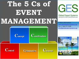 Event Company Organizational Chart The 5 Cs Of Event Management By Global Expert Systems Inc
