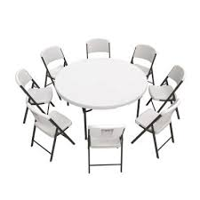 lifetime 60 inch round table and 8
