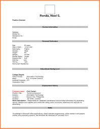 Blank Resume Form For Job Applicationnokiaaplicaciones Com
