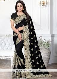 Stunning Designer Sarees Designer Party Wear Art Silk Saree In Black Color