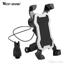2019 <b>WEST BIKING</b> Bicycle Phone Holder With Horn Bike <b>5 Modes</b> ...
