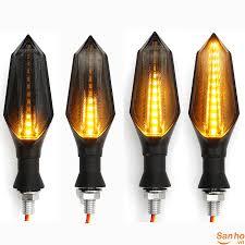 CD241 Cặp đèn pha led báo rẽ cho xe máy chiếu ánh sáng vàng