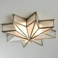the magic of stars comes alive in this 8 point star flush mount light glare free