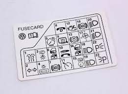 fuse diagram key card vw passat b genuine b f fuse diagram key card 98 05 vw passat b5 genuine 3b0 010 241 f