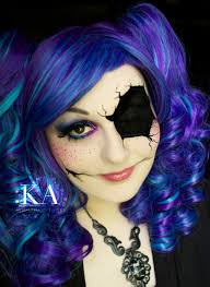 broken doll makeup with tutorial by katiealves