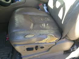 auto artisans inc auto upholstery repair van seat before