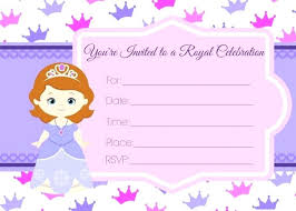 Sofia The First Invitations Online The First Birthday Party Invites