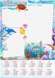 Photoshop Calendar Template 2020 Calendar For 2020 Psd Template Png Underwater World