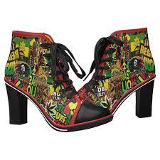 Rasta Bob Marley High Heels Reggae Shoes Black Heels High Heel Shoes Heeled Ankle Boots Ankle Boots Black Ankle Boots