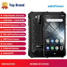 Giao hàng miễn phi Ulefone Armor X5 Điện thoại thông minh màn hình sắc nét  5.5 inch bộ nhớ trong 3GB bộ nhớ ngoài 32GB camera kép độ phân giải 13MP  +2MP