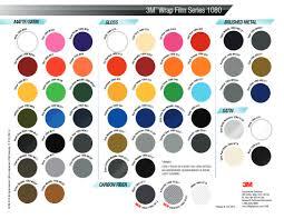 3m Vinyl Wrap Color Chart Wrapcolors Com Color Options
