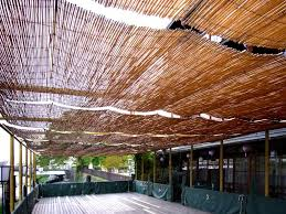 outdoor bamboo shades for gazebo