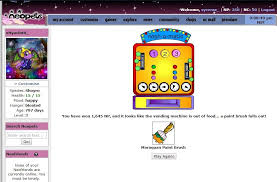 Neopets Alien Vending Machine Classy Saw The Vending Machine Wins On The Sub And Decided To Buy A Nerkmid