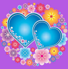 Pictures Of Hearts And Flowers Blue Hearts And Flowers