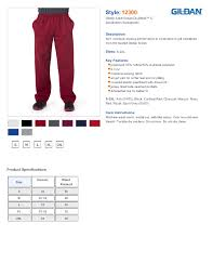 Gildan Size Chart Pants Gildan 12300 Ultra Blend Open Botton Pocketed Sweatpants