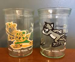Tom and jerry glasses vintage