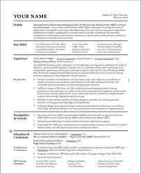 ... Police Officer Resume Skills Police Officer Resume Samples Marine Corps  Military Police Cv Template ...
