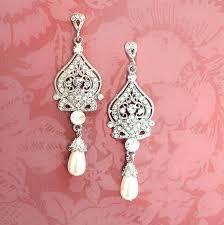 chandelier pearl earrings for wedding earrings bridal pearl earrings pearl chandelier earrings wedding earrings vintage inspired chandelier pearl earrings