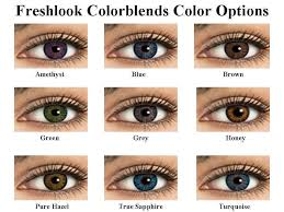 Contact Lenses Colour Chart Fresh Look Color Contact Lens