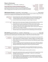 technical writer functional resume sample writing sample resume