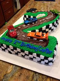 Cars Happy Birthday Cake For Two Year Old Used Matchbox Cars On