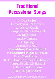 wedding recessional songs. Recessional Songs Wedding Ceremony Songs