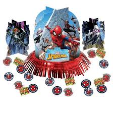 Spiderman Web Table Deco Kit Party Supplies Ideas Accessories