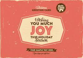 Greeting Card Samples Free Download Retro Christmas Greeting Card Template Eps