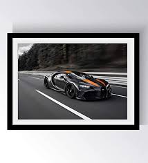 This is a vintage bugatti poster. Amazon Com Drob Collectibles Bugatti Chiron Sport 300 Ans Sport Car Urban Poster Mural Photography Art 17 X 24 Premium Art Print With Archival Ink In Glossy Paper Limited Edition Bt03 Posters