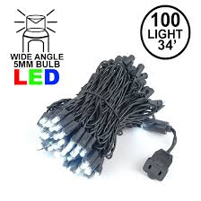 Commercial Grade Wide Angle 100 Led Pure White 34 Long Black Wire