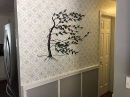 hallway finally. stenciled hallway finally finished wall decor l