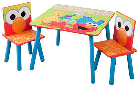 kids table and chairs com delta children table u0026 chair set sesame