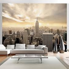 New York Skyline Wallpaper For Bedroom Wall Mural New York City Skyline Penthouse Photo Wallpaper
