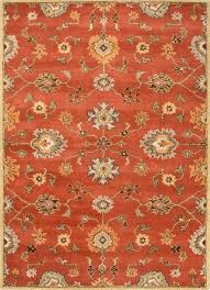 orange grey rug