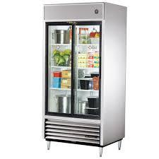 ft sliding glass door ss refrigerator led