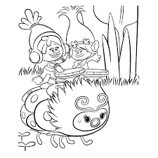 Coloring Pages Excelent Free Trolls Coloringages Toprintable