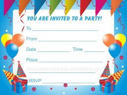 011 Template Ideas Birthday Party Invitation Free Printable