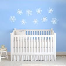 snowflakes wall decals set of 9