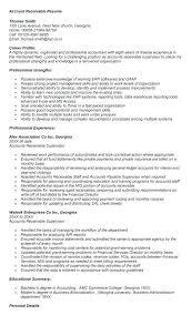 Accounts Receivable Resume Templates Accounts Receivable Resume Enchanting Account Receivable Resume