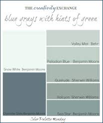 Sherwin Williams Green Color Chart Color Palette Monday 1