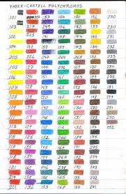 Faber Castell Classic Colored Pencils Color Chart Eva Fogarasi Email1132 On Pinterest