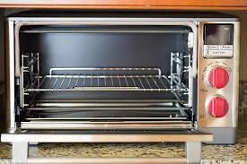 the wolf gourmet countertop oven with the door open