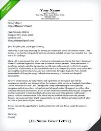 Employment Cover Letter Example Entry Level Nurse Cover Letter