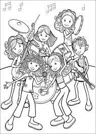Kleurplaat Groovy Girls Rockband Kleurplaten Coloring Pages
