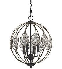elk 81107 4 crystal web 4 light 16 inch bronze gold with matte black chandelier