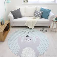 Children Bedroom Rugs And Carpet Cartoon Animal Round Area Rug For Living Room Computer Chair Floor Mat Cloakroom